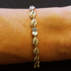 Jewelry - Gold filled and topaz bracelet